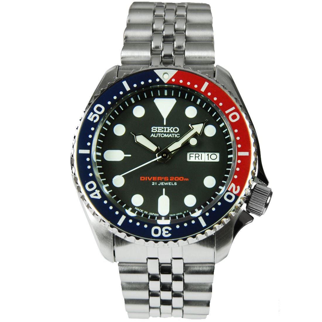TOP-SELLING-Seiko-SKX009-SKX009J1-SKX009J2-SKX009K1-SKX009K2-Pepsi-Dive-Watch thumbnail 12