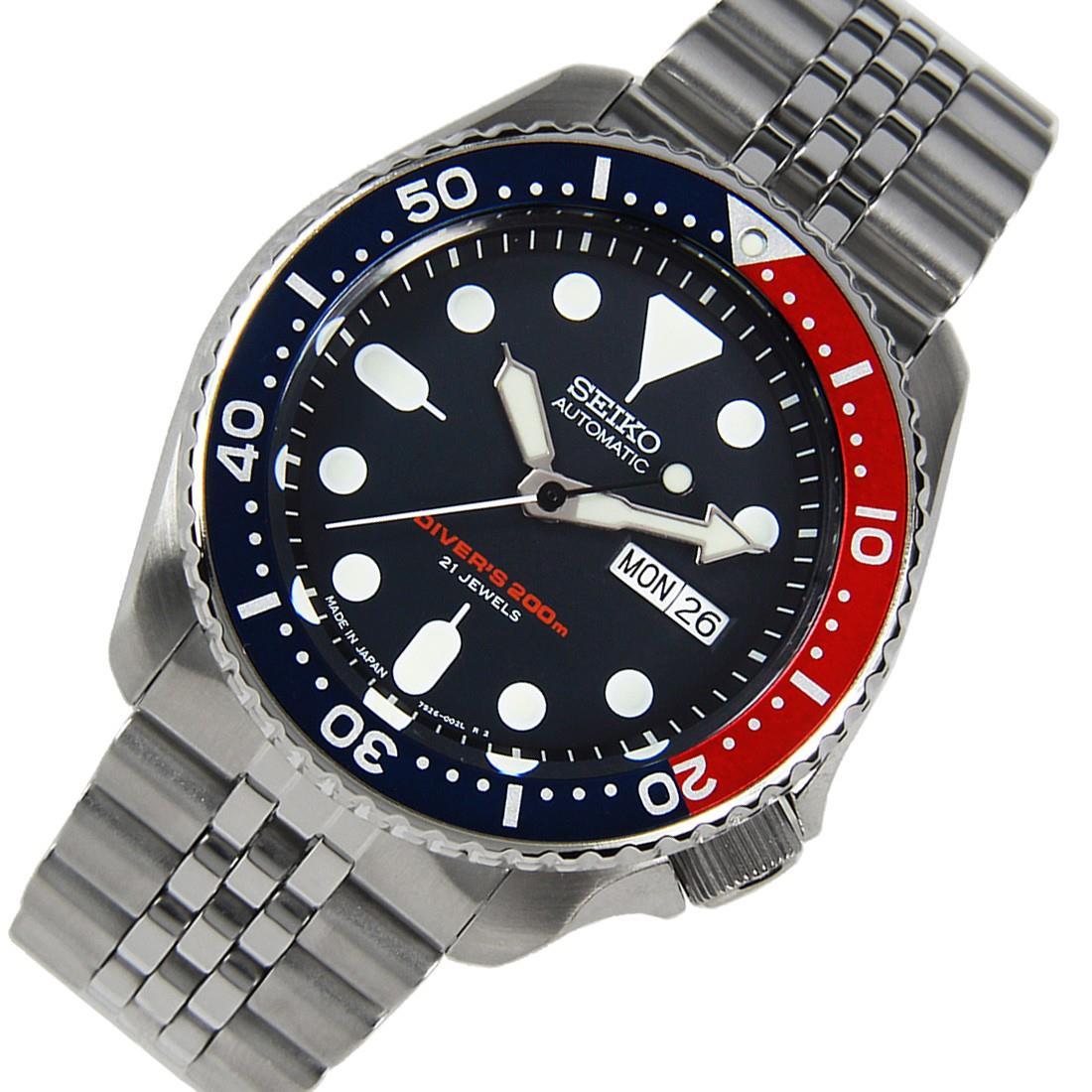 TOP-SELLING-Seiko-SKX009-SKX009J1-SKX009J2-SKX009K1-SKX009K2-Pepsi-Dive-Watch thumbnail 17