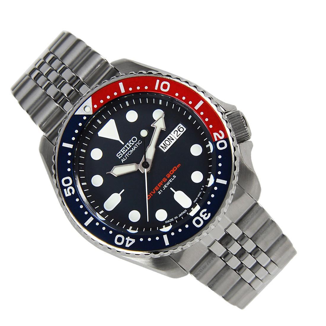TOP-SELLING-Seiko-SKX009-SKX009J1-SKX009J2-SKX009K1-SKX009K2-Pepsi-Dive-Watch thumbnail 18
