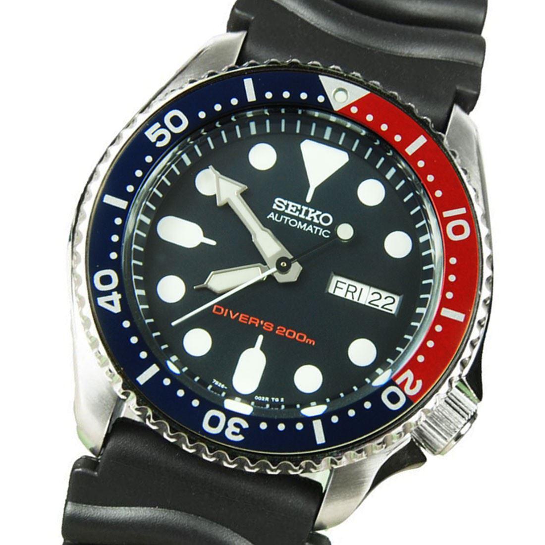 TOP-SELLING-Seiko-SKX009-SKX009J1-SKX009J2-SKX009K1-SKX009K2-Pepsi-Dive-Watch thumbnail 22