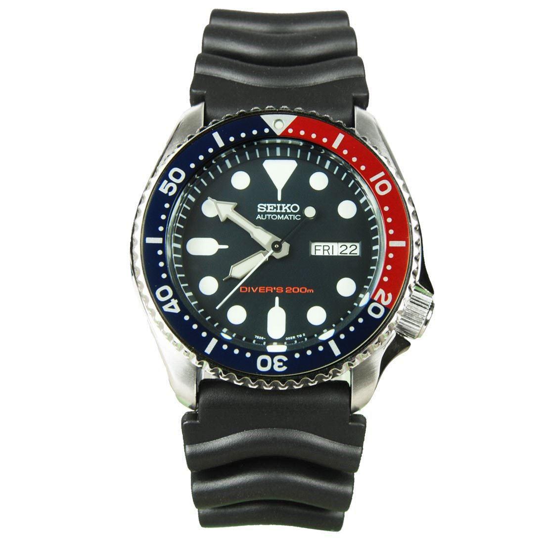 TOP-SELLING-Seiko-SKX009-SKX009J1-SKX009J2-SKX009K1-SKX009K2-Pepsi-Dive-Watch thumbnail 20