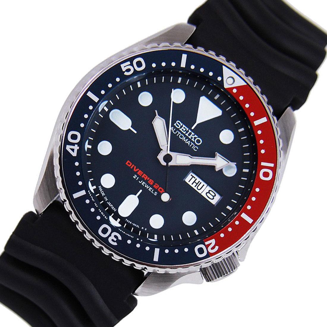 TOP-SELLING-Seiko-SKX009-SKX009J1-SKX009J2-SKX009K1-SKX009K2-Pepsi-Dive-Watch thumbnail 8