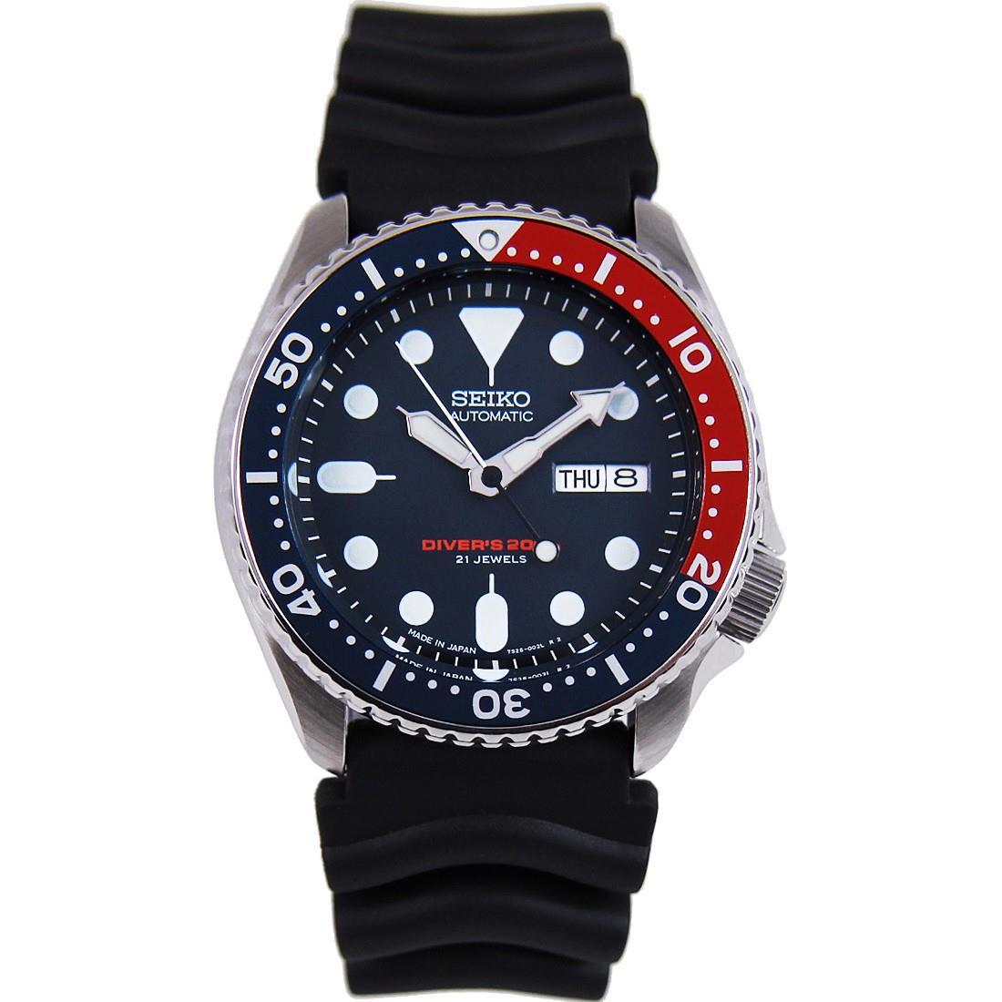 TOP-SELLING-Seiko-SKX009-SKX009J1-SKX009J2-SKX009K1-SKX009K2-Pepsi-Dive-Watch thumbnail 7