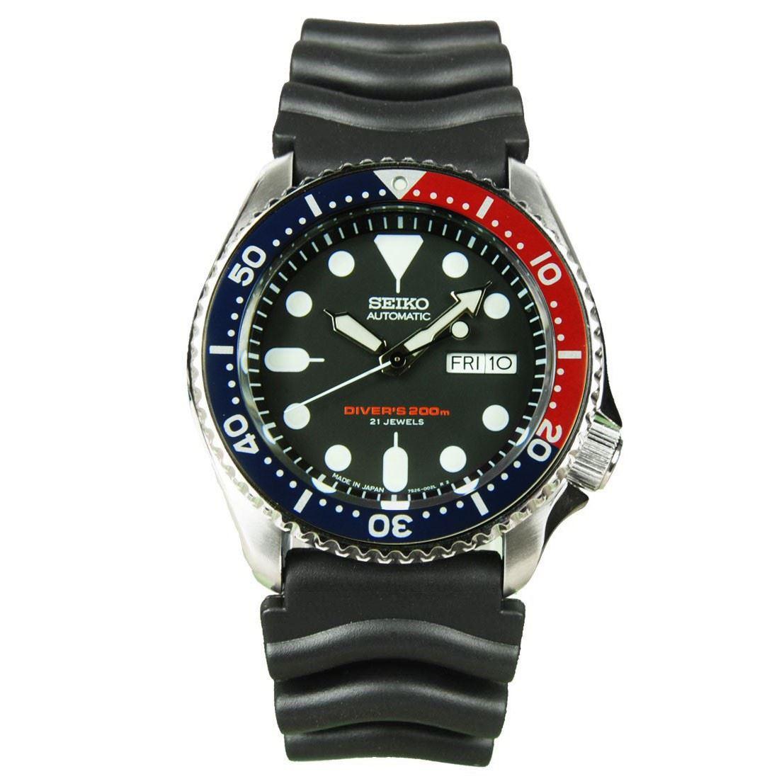 TOP-SELLING-Seiko-SKX009-SKX009J1-SKX009J2-SKX009K1-SKX009K2-Pepsi-Dive-Watch thumbnail 3
