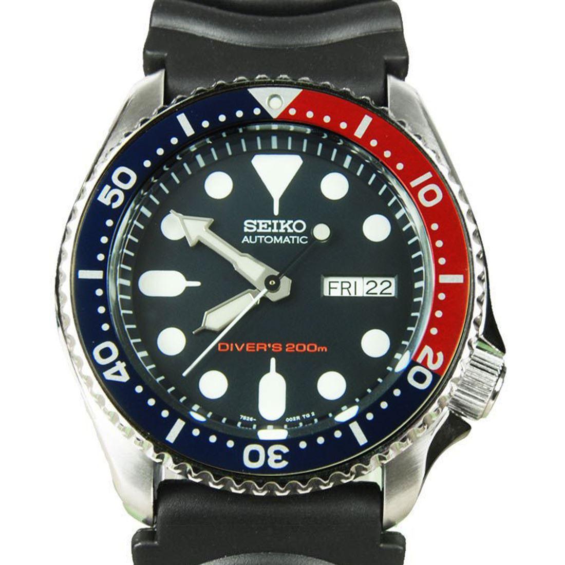 TOP-SELLING-Seiko-SKX009-SKX009J1-SKX009J2-SKX009K1-SKX009K2-Pepsi-Dive-Watch thumbnail 23