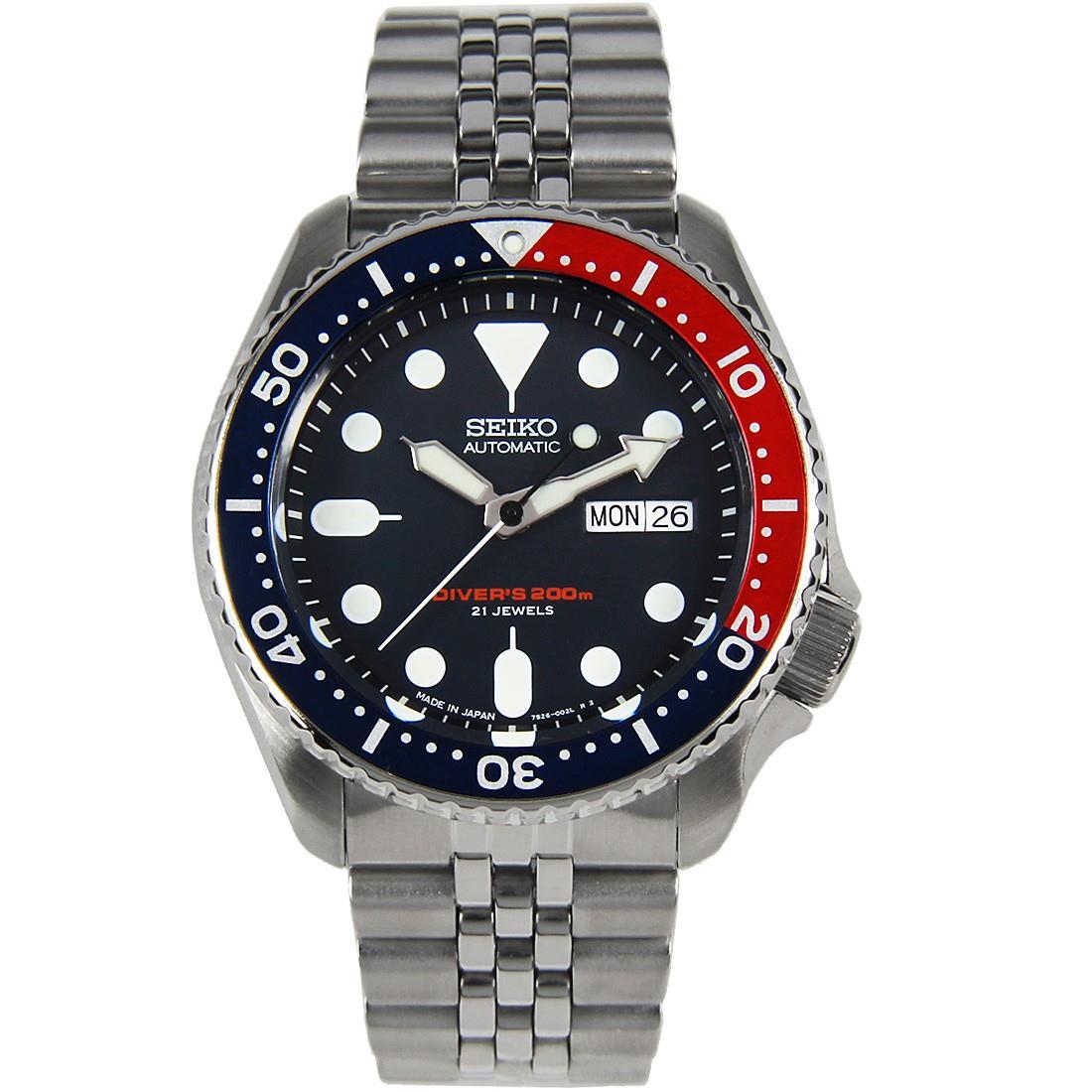 TOP-SELLING-Seiko-SKX009-SKX009J1-SKX009J2-SKX009K1-SKX009K2-Pepsi-Dive-Watch thumbnail 16