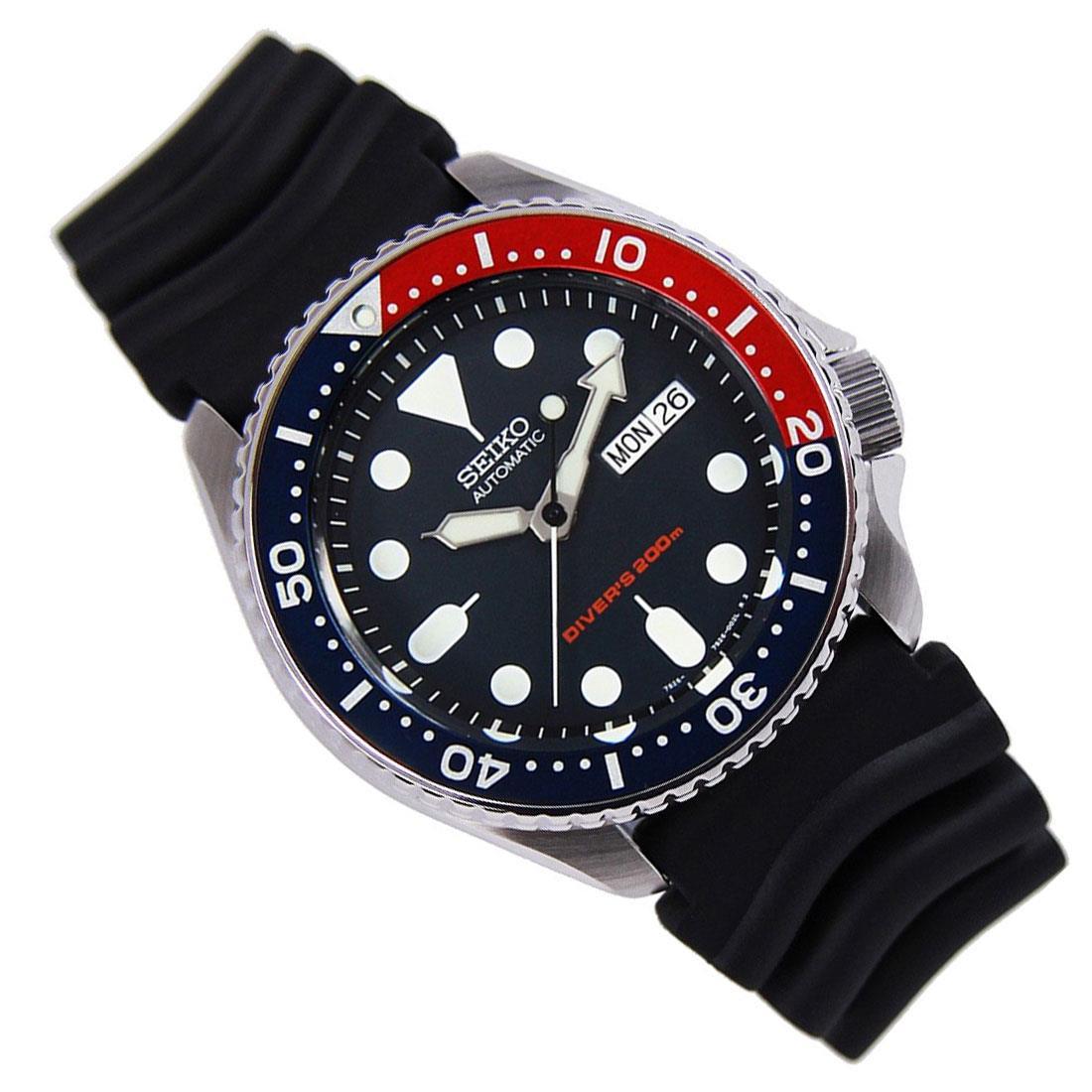 TOP-SELLING-Seiko-SKX009-SKX009J1-SKX009J2-SKX009K1-SKX009K2-Pepsi-Dive-Watch thumbnail 26