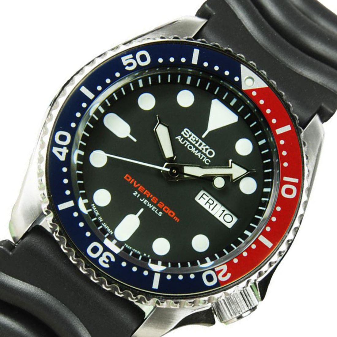 TOP-SELLING-Seiko-SKX009-SKX009J1-SKX009J2-SKX009K1-SKX009K2-Pepsi-Dive-Watch thumbnail 6