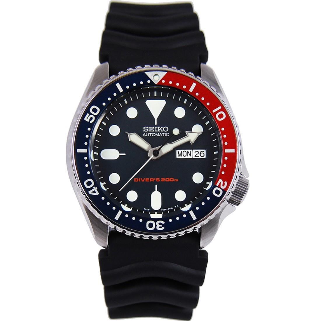 TOP-SELLING-Seiko-SKX009-SKX009J1-SKX009J2-SKX009K1-SKX009K2-Pepsi-Dive-Watch thumbnail 24