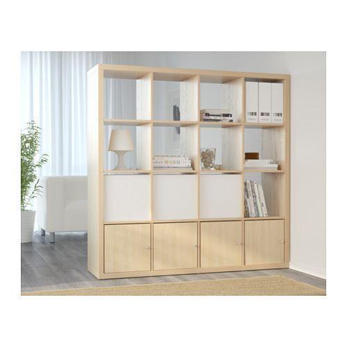 ikea kallax 16 cube storage bookcase square shelving unit. Black Bedroom Furniture Sets. Home Design Ideas