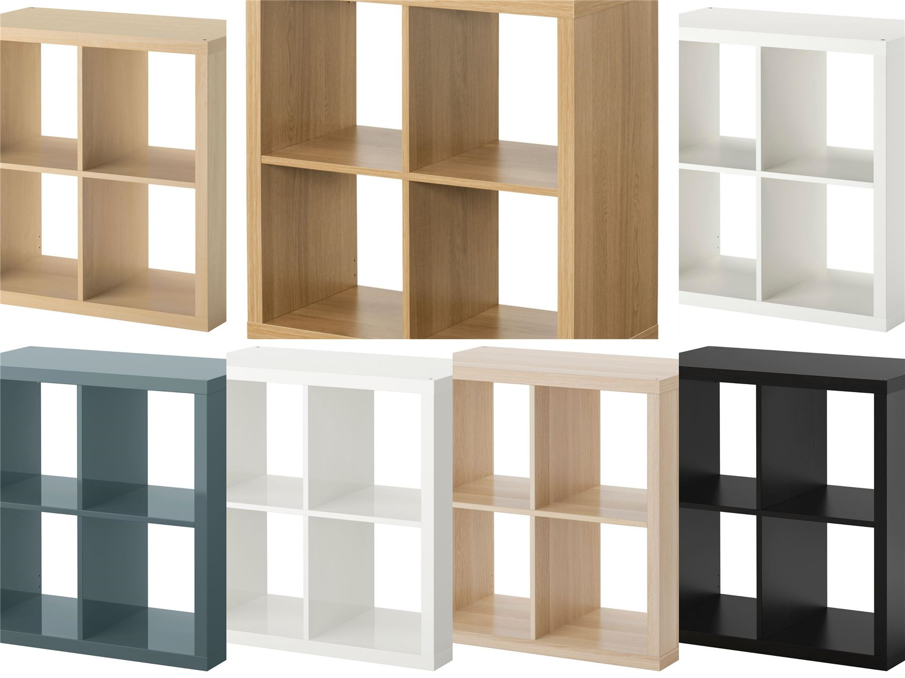 ikea kallax 4 cube storage bookcase square shelving unit various colours ebay. Black Bedroom Furniture Sets. Home Design Ideas