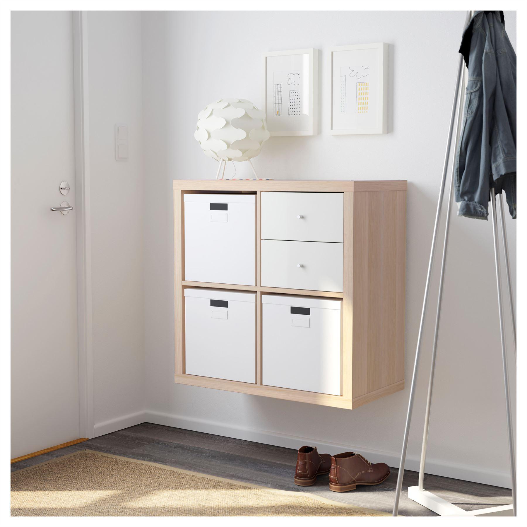 Ikea Kallax 4 Cube Storage Bookcase Square Shelving Unit