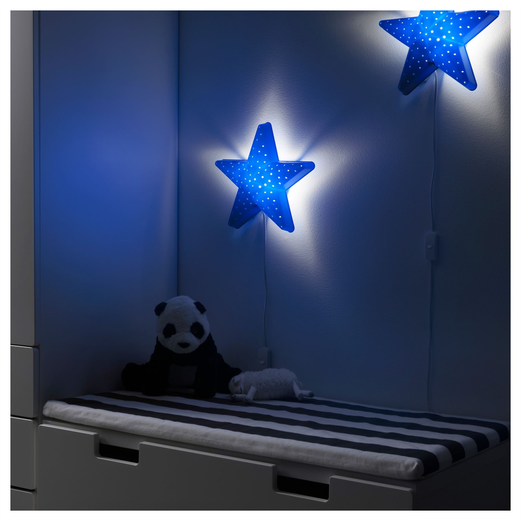 Exceptional IKEA Smila Childrenu0027s Bedroom Wall Lamp Baby Night Light Blue Star Design Inspirations