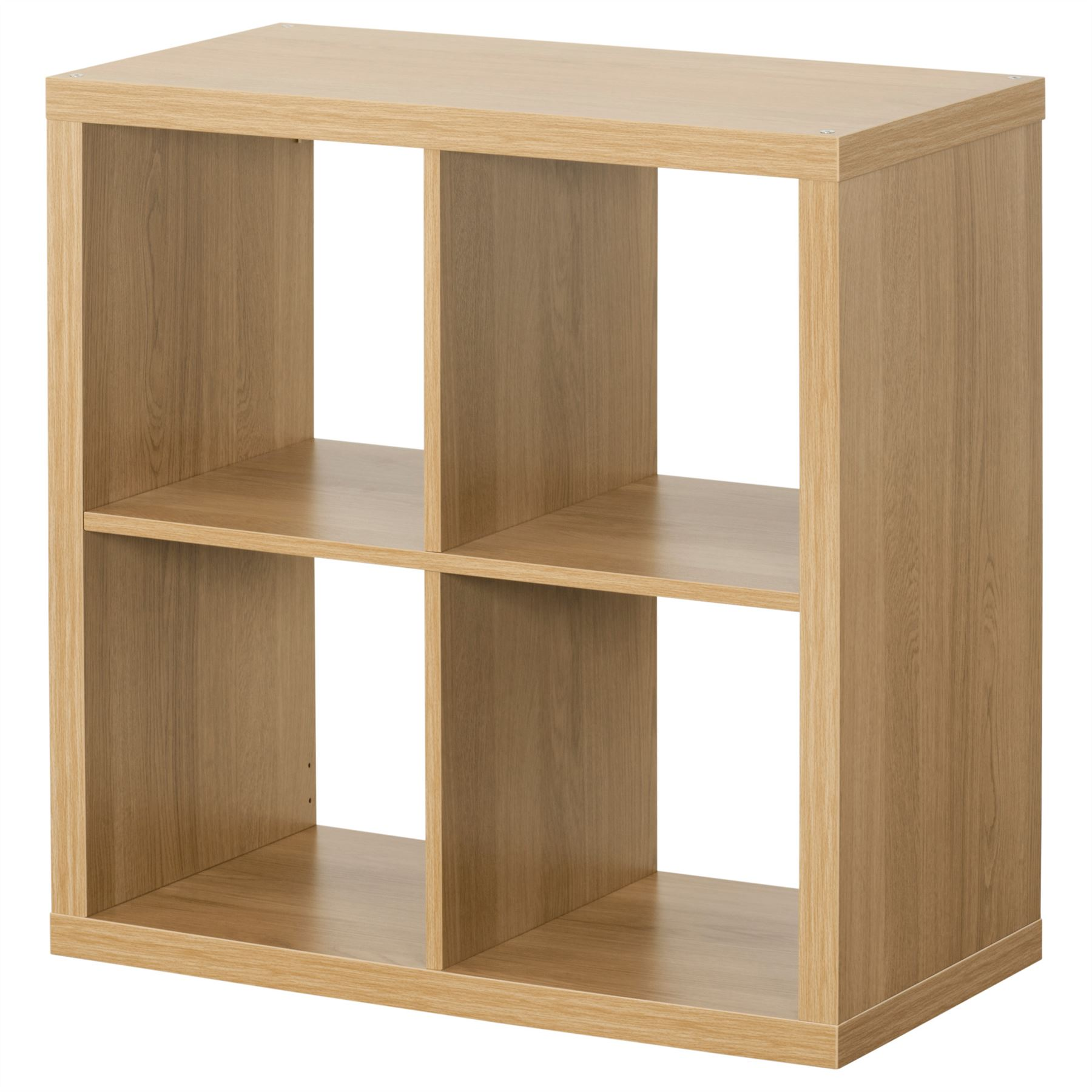 Ikea Kallax 4 Cube Storage Bookcase Square Shelving Unit Oak | eBay