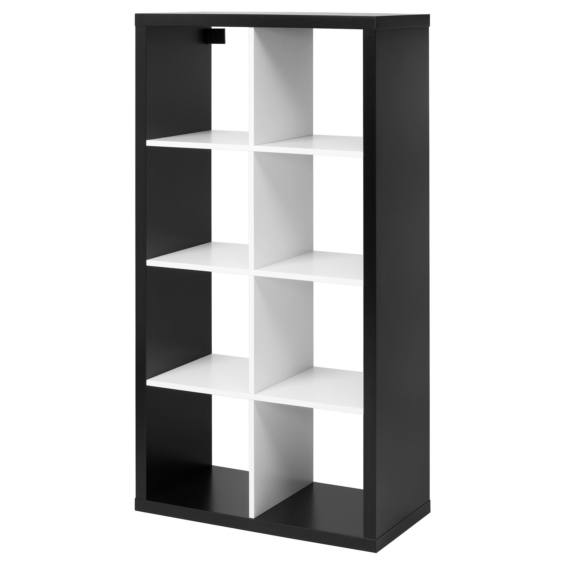 ikea kallax 8 cube storage bookcase rectangle shelving. Black Bedroom Furniture Sets. Home Design Ideas