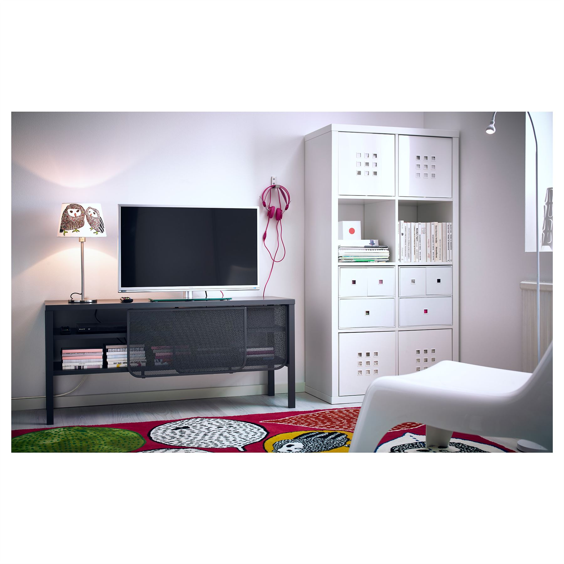 ikea kallax 8 cube storage bookcase rectangle shelving unit white ebay. Black Bedroom Furniture Sets. Home Design Ideas