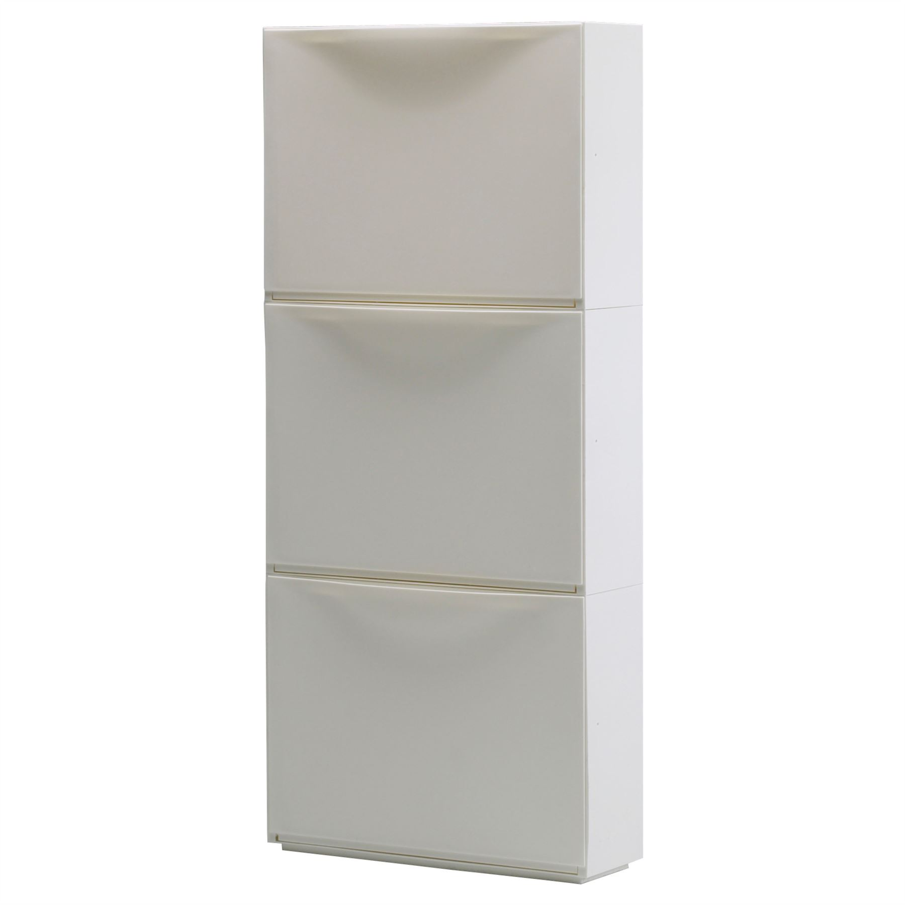 Ikea trones shoe storage cabinet 3 pack white new ebay for Mueble zapatero amazon