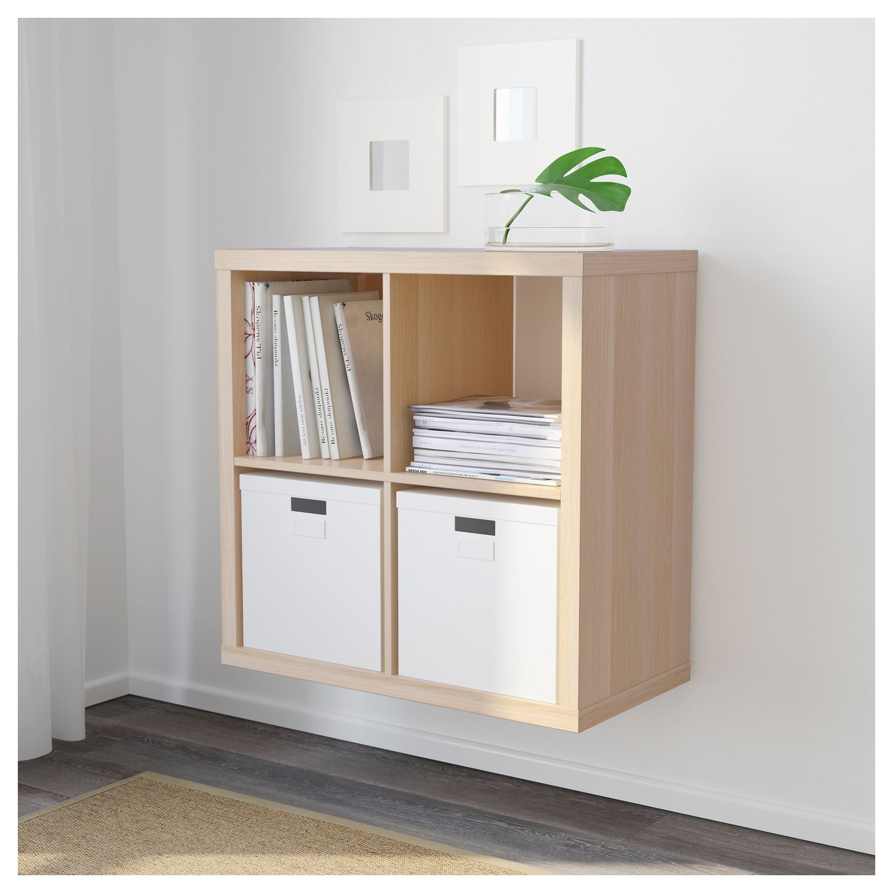 ikea kallax 4 cube storage bookcase square shelving unit various colours ebay