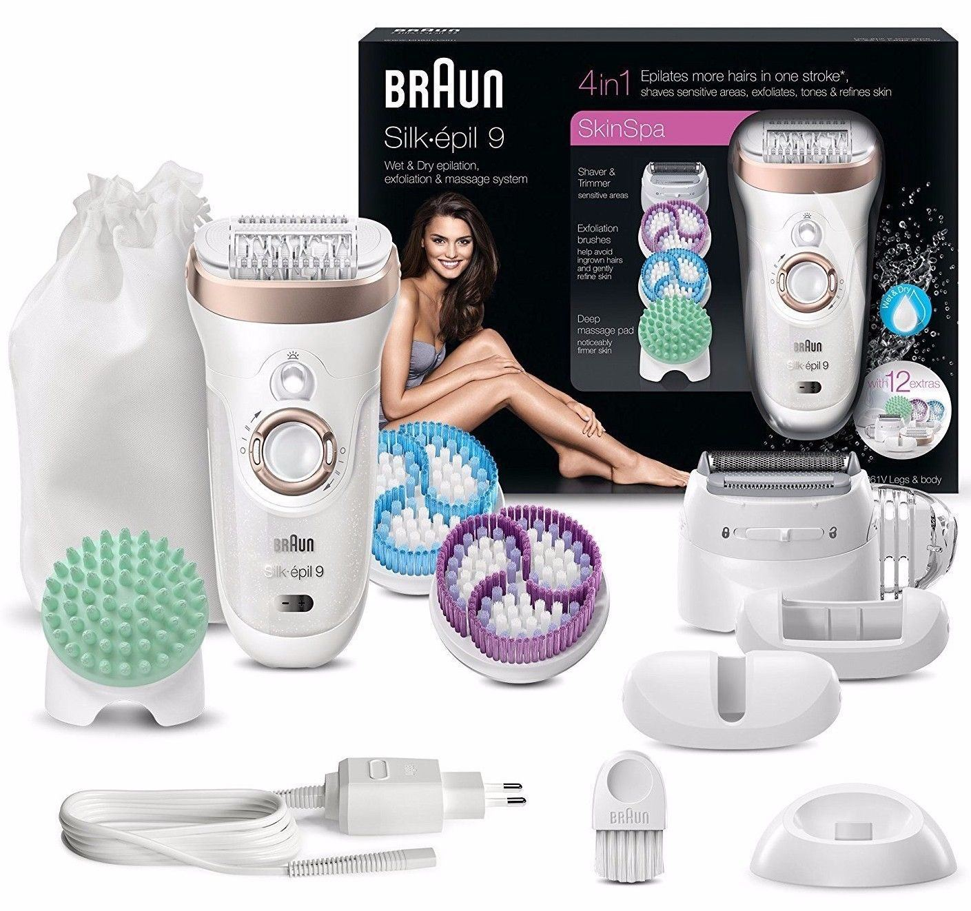Details about Braun Silk Epilator 9-961v Womens Skin Spa 9 Wet   Dry Hair  Removal 12 Pieces fe5d0b1e5