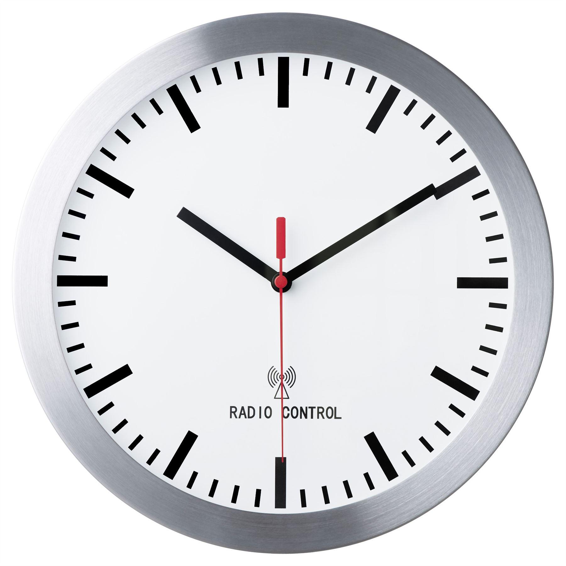 Ikea burrig radio controlled wall clock silver home for Orologio ikea