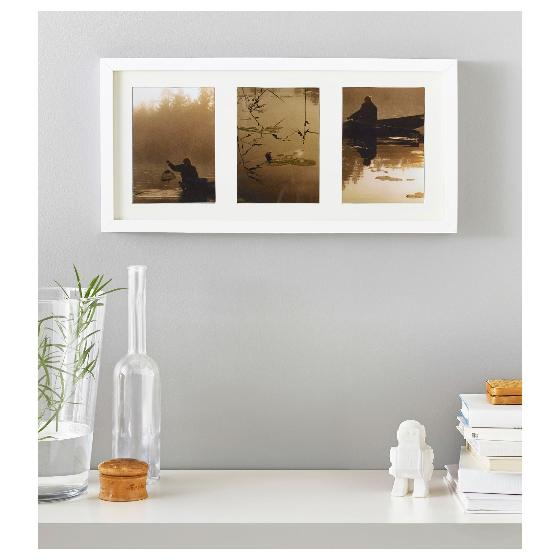 Ikea ribba picture photo frame white home bedroom living room ikea ribba picture photo frame white home bedroom living room 50x23cm jeuxipadfo Images