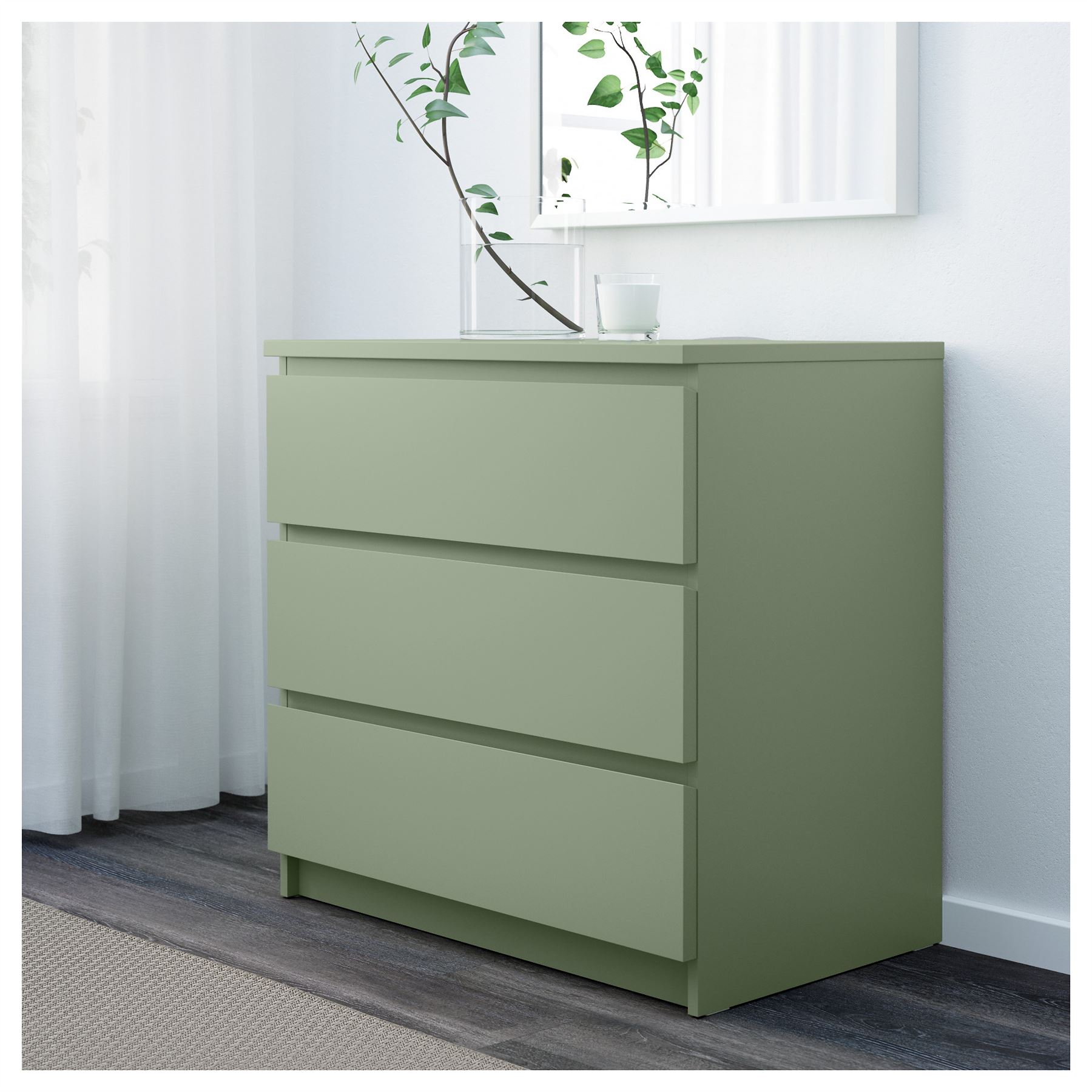 Ikea Malm Chest Of Xcm Light Green Bedroom Furniture