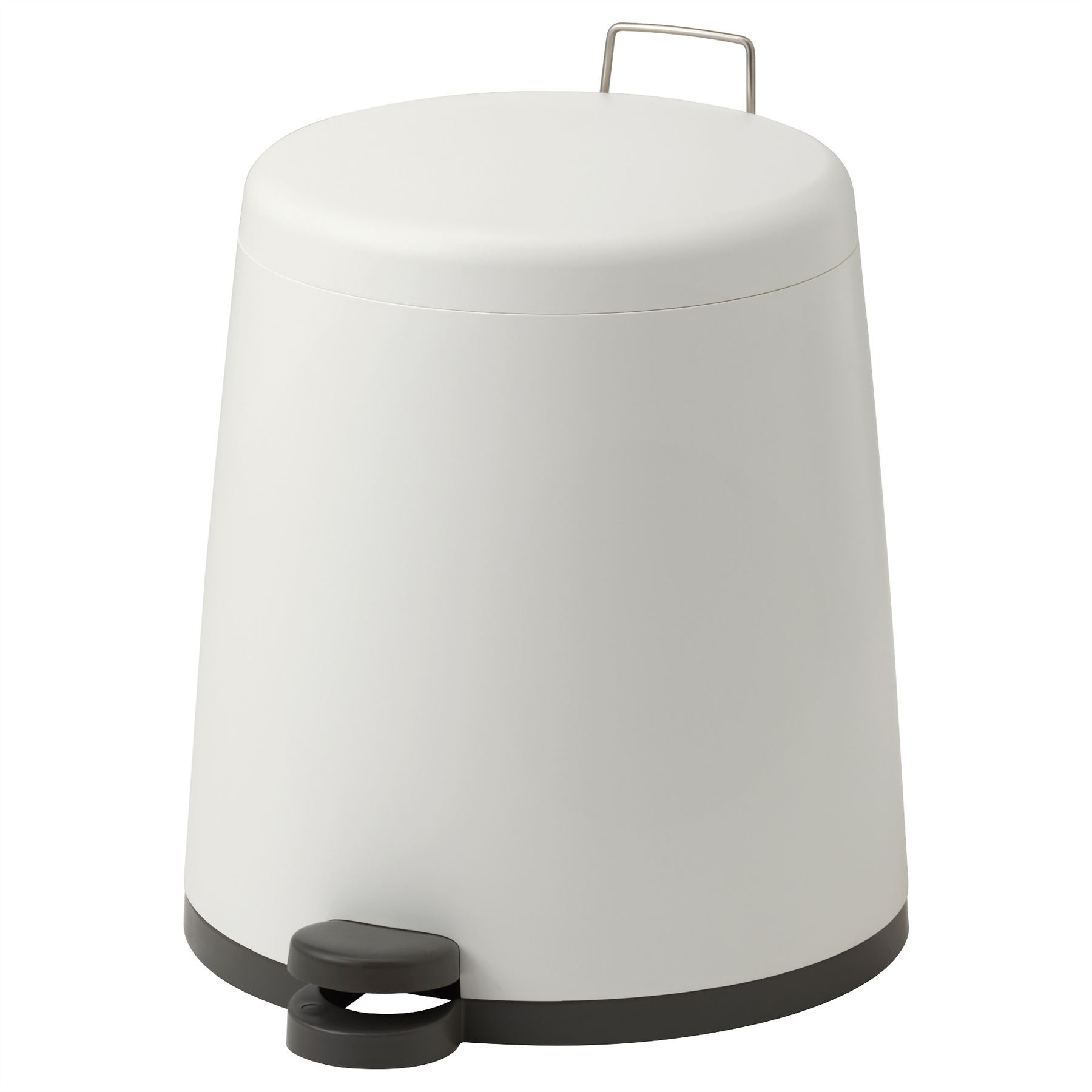 White Bathroom Bin ikea snapp 12l bathroom home office pedal bin various colours new