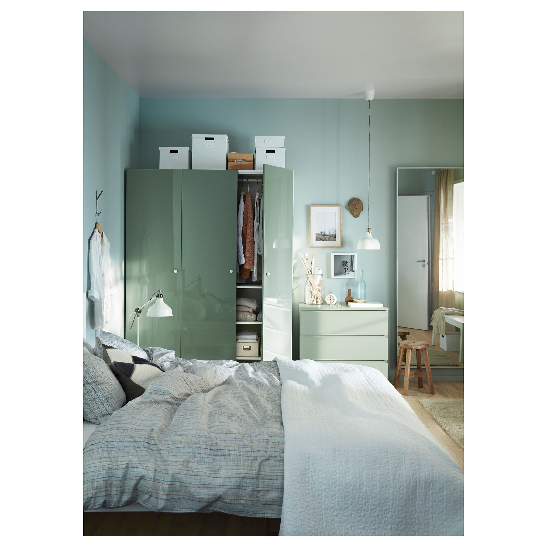 green bedroom furniture. Ikea Malm Chest Of 3 Drawers 80x78cm Light Green Bedroom Furniture A