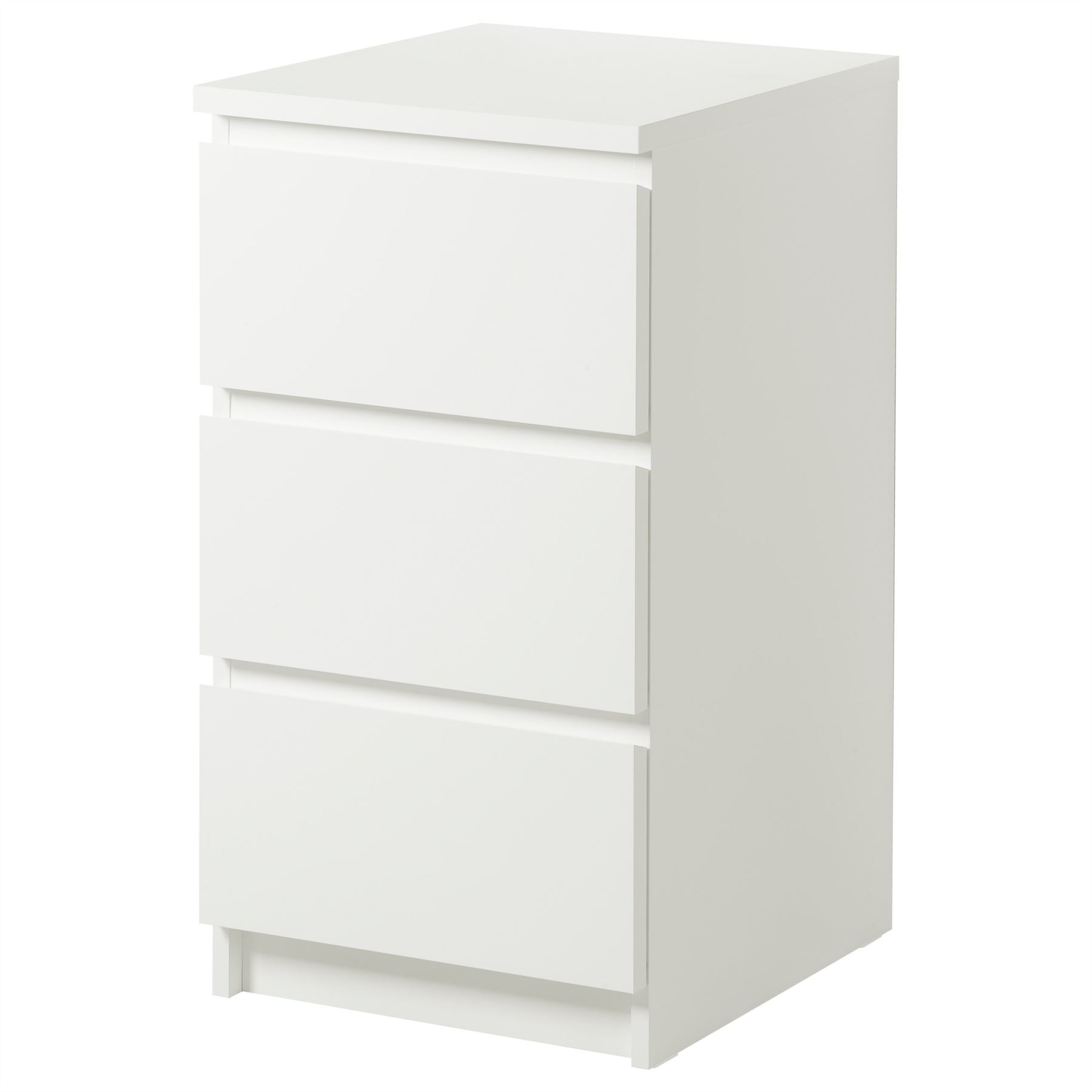 Ikea malm chest of 3 drawers 40x78cm white bedroom furniture ebay for White bedroom chest of drawers