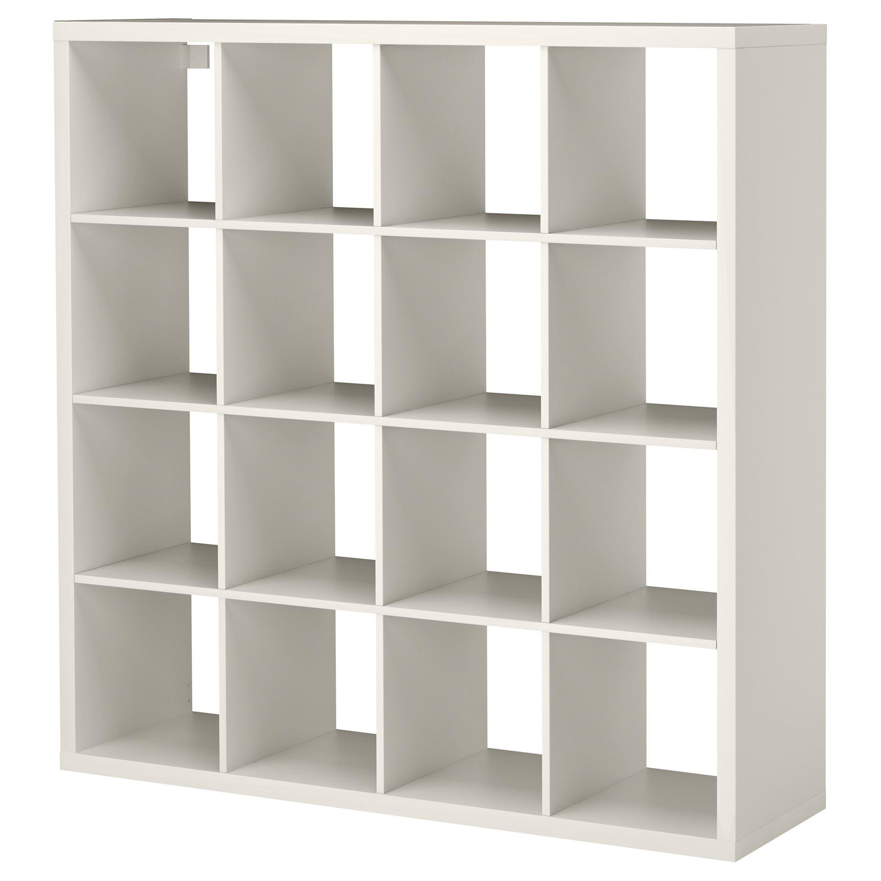 Ikea kallax 16 cube storage bookcase square shelving unit for Ikea storage bin unit