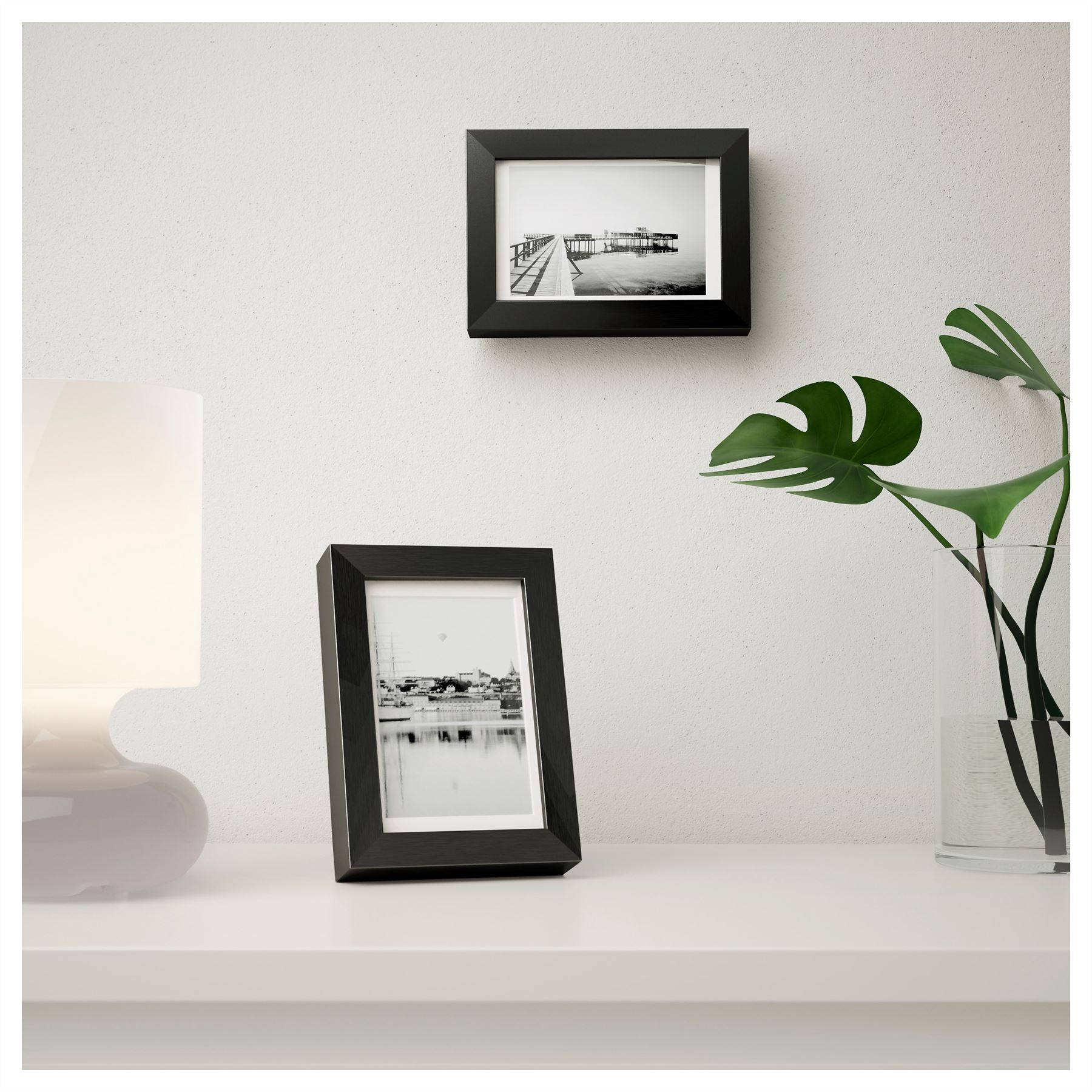 3x Ikea Ribba Picture Photo Frame Black Home Bedroom Living Room ...