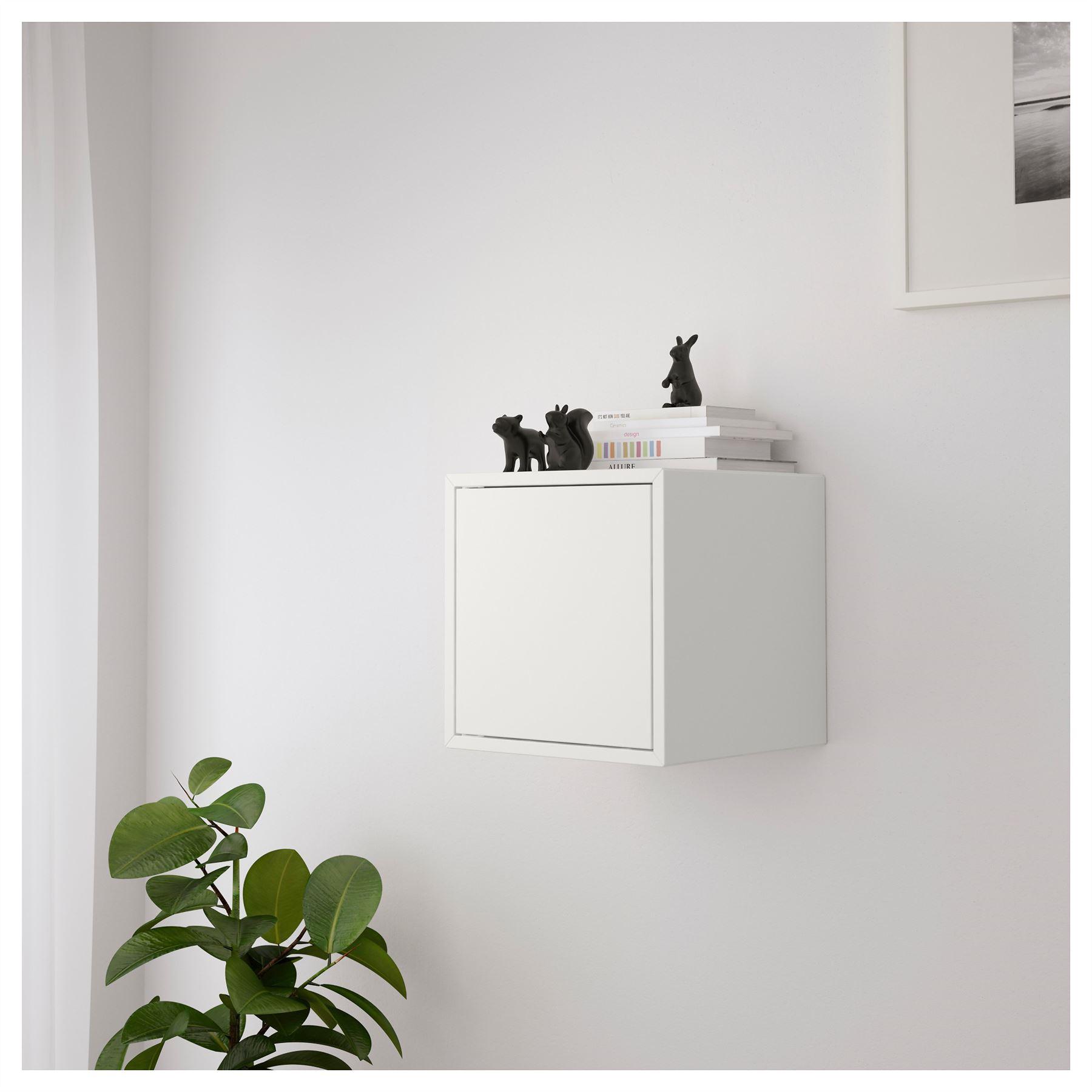 2x Ikea Eket Cabinet With Door Display Shelving Unit White