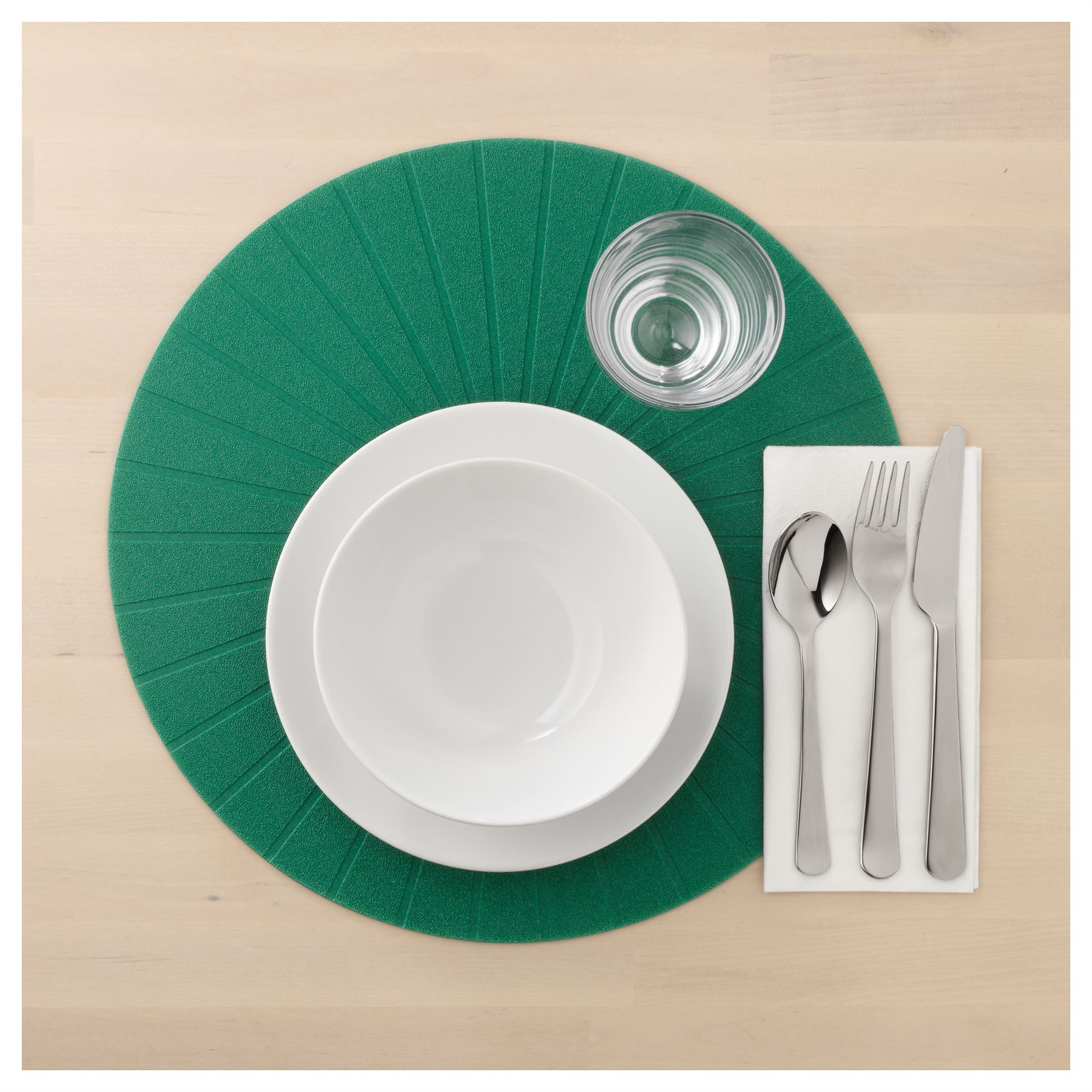 2x Ikea Panna Place Mat Dark Green 37cm Round Dining Table Kitchen ...