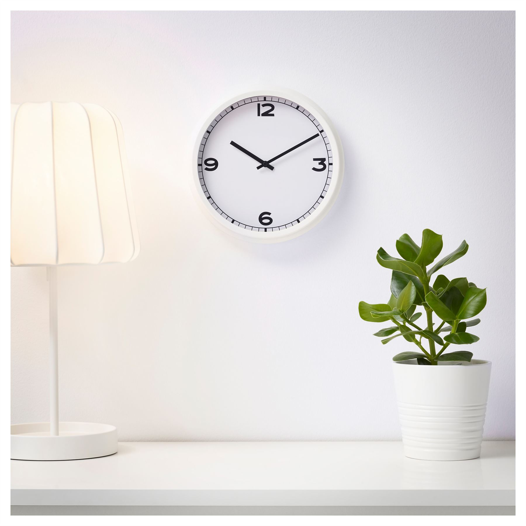 Ikea Pugg Wall Clock White Home Office Work Ebay