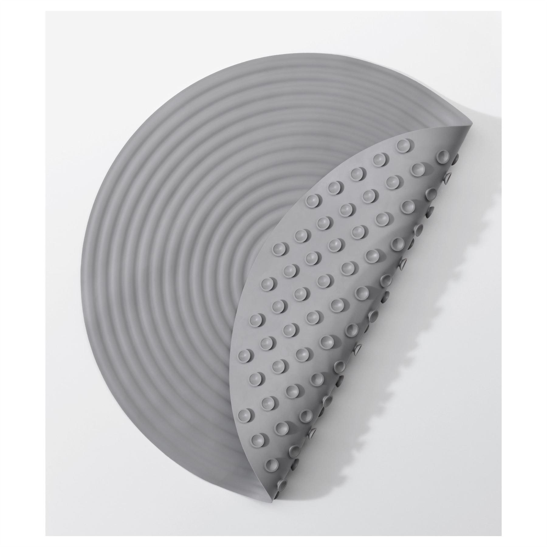Ikea Doppa Shower Mat Bath Non Slip Round Grey Rubber | eBay