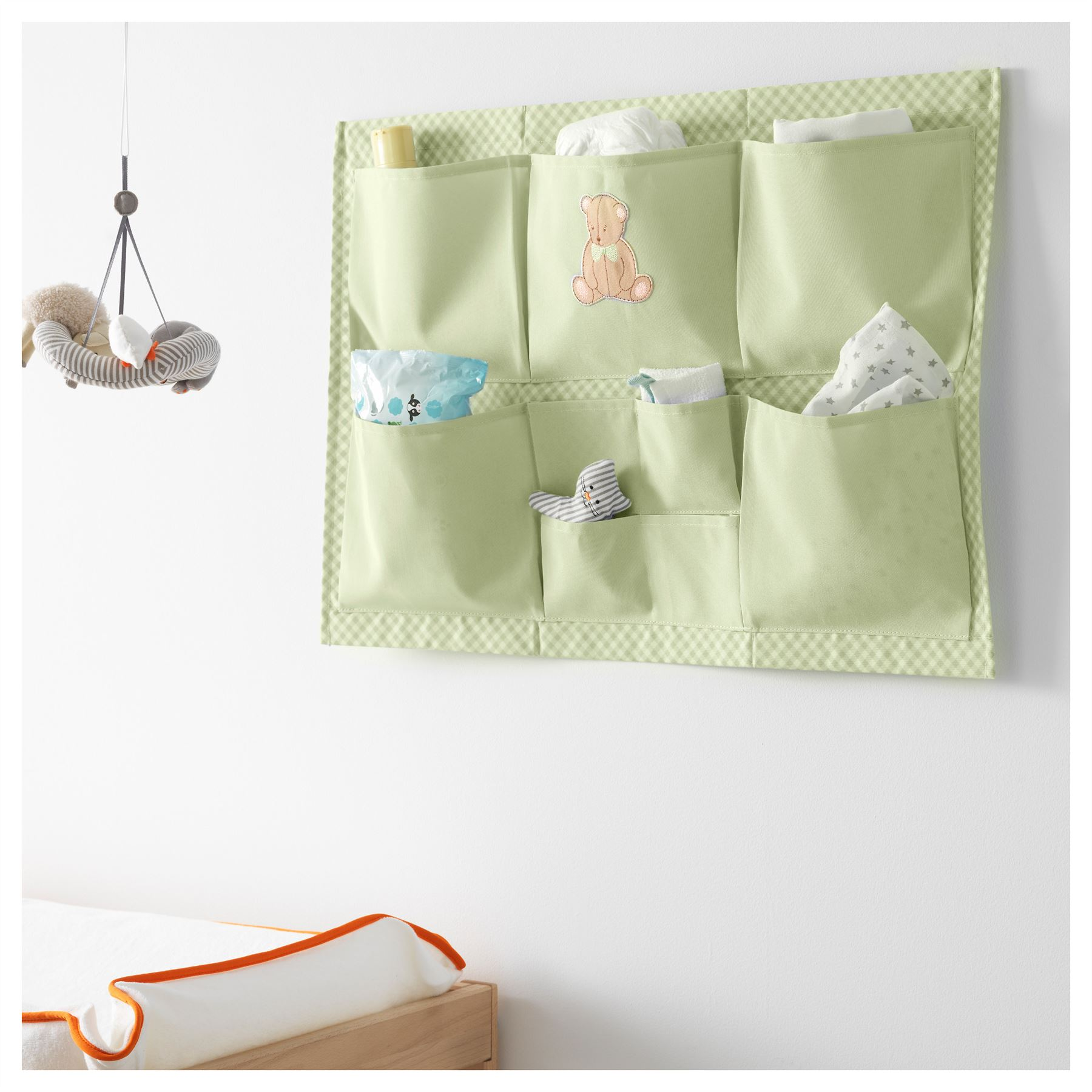 IKEA NANIG KIDS CHILDRENS WALL HANGING STORAGE POCKETS BOXES GREEN  sc 1 st  eBay & IKEA NANIG KIDS CHILDRENS WALL HANGING STORAGE POCKETS BOXES GREEN ...