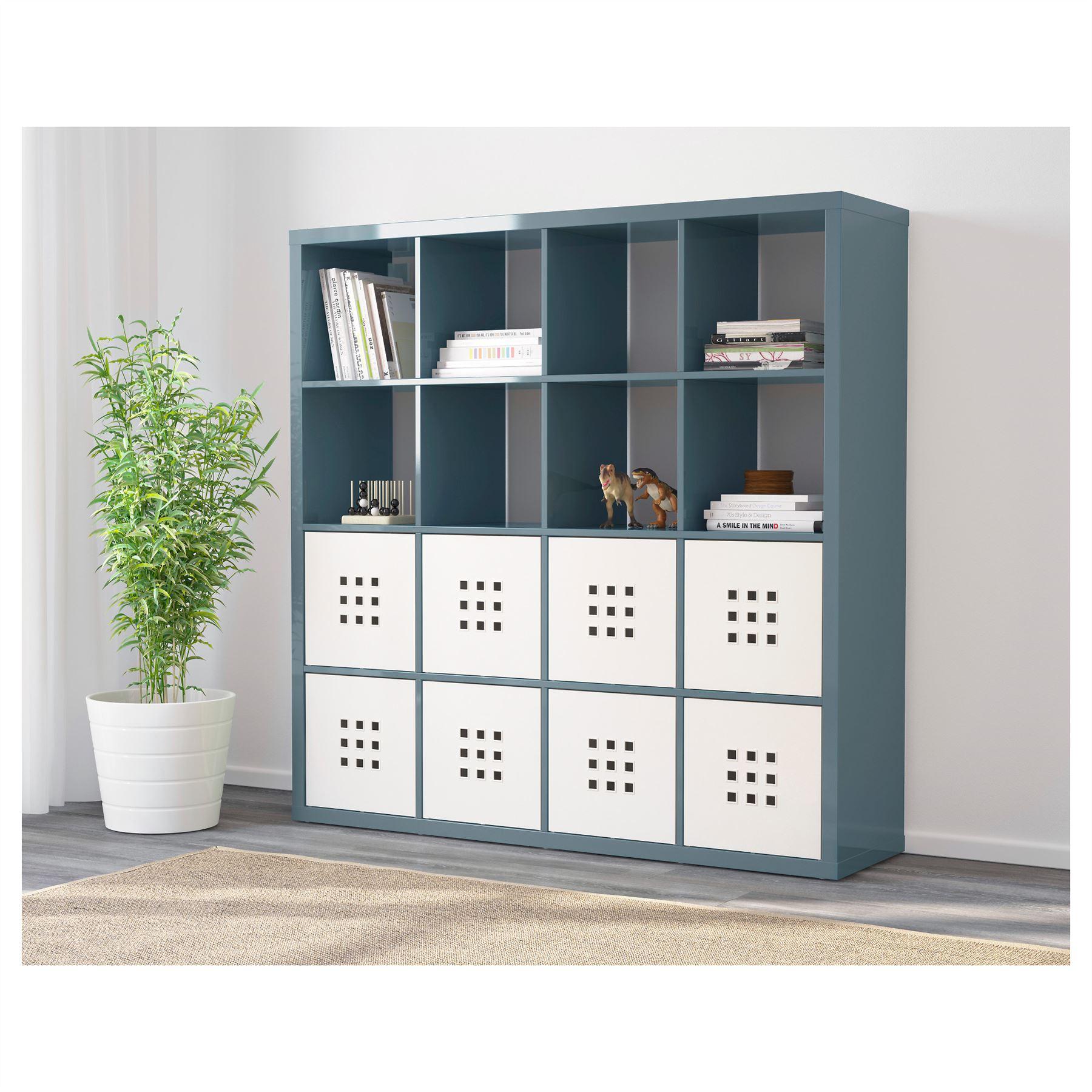 ikea kallax 16 cube storage bookcase square shelving unit various colours ebay. Black Bedroom Furniture Sets. Home Design Ideas