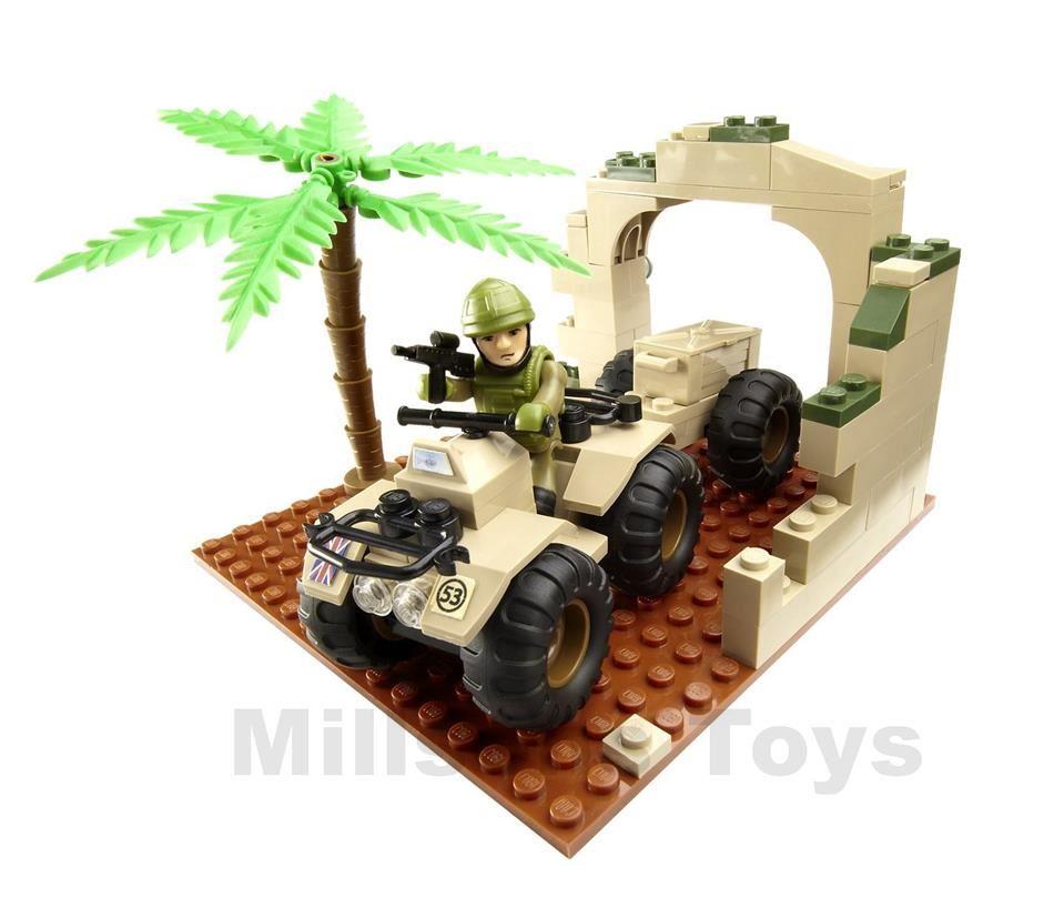 H.M Armed Forces Esercito Soldato /& Moto Quad Mini Set-NUOVI