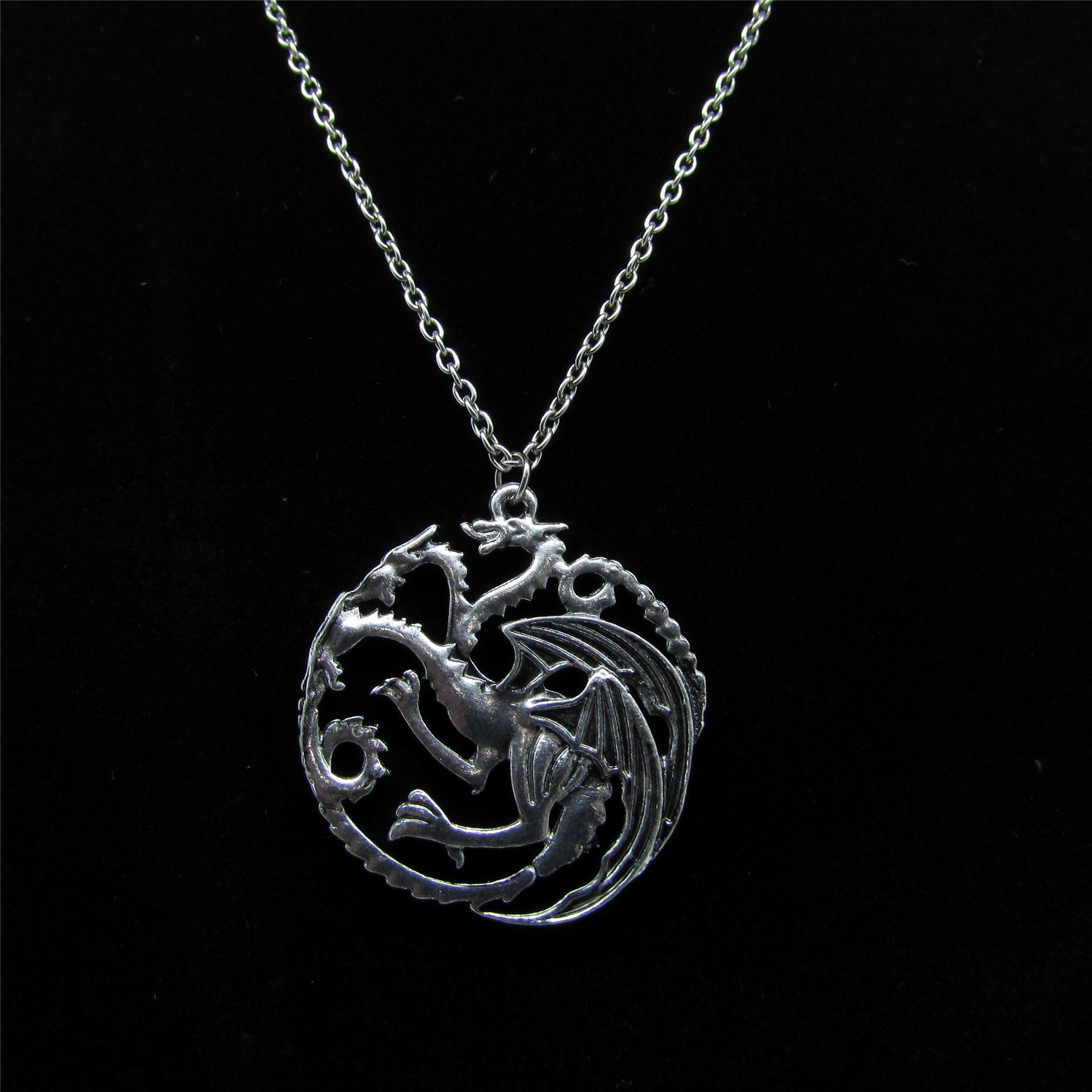Game of Thrones Targaryen DRAGON Inspired Necklace Pendant NEW UK STOCK