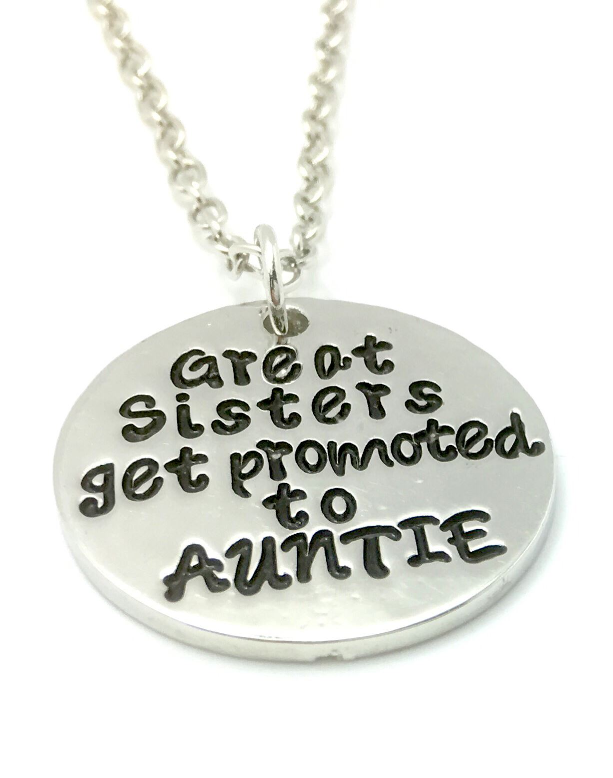 GREAT SISTERS GET PROMOTED To AUNTIE Necklace UK Stock Pregnant