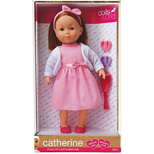 f758fb632 Details about Dolls World CATHERINE - 16inches Tall - SLEEPING EYES -  Deluxe Outfit - NEW