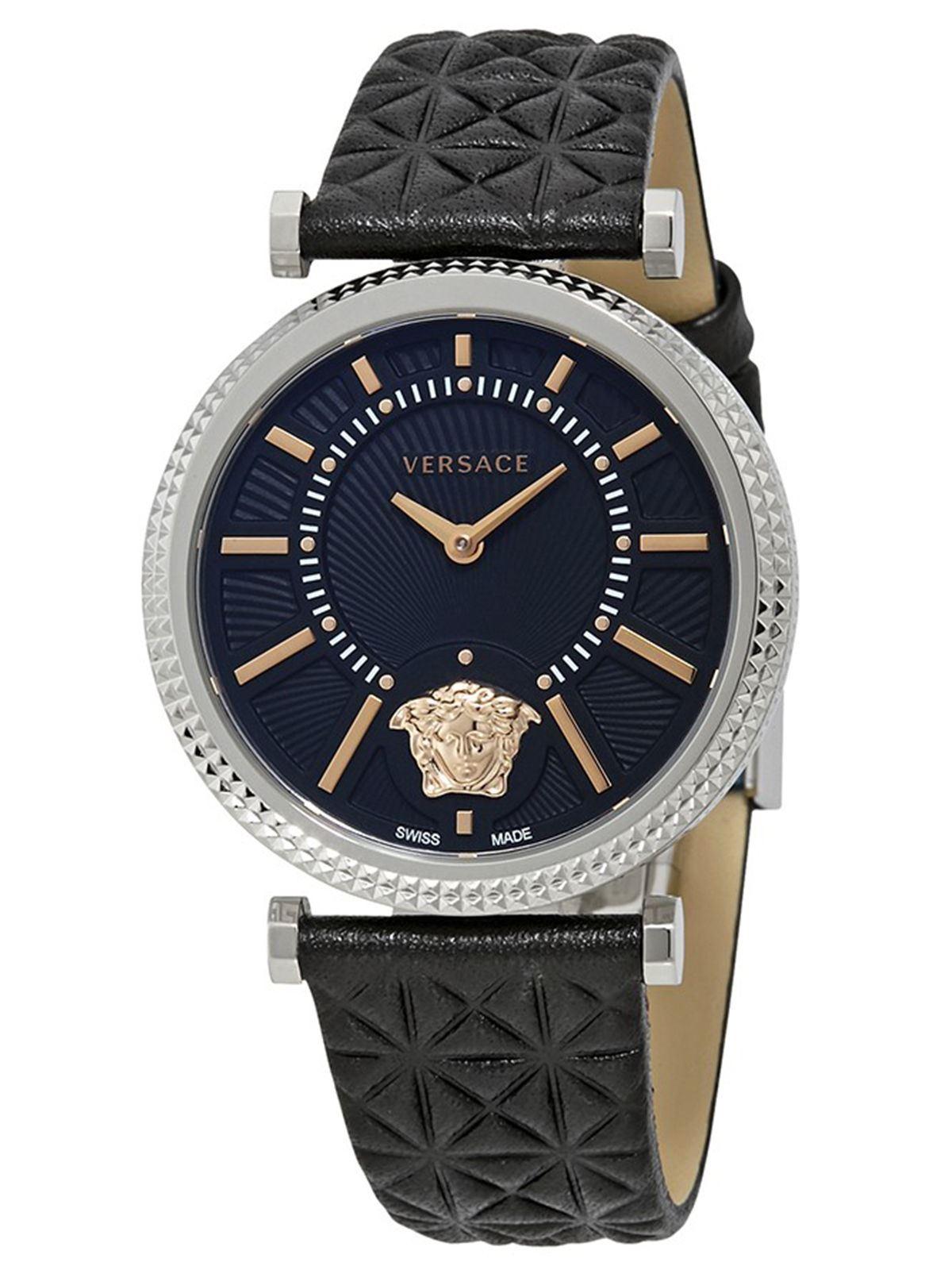3bc4879935c Versace V-Helix Ladies  Black Leather Watch - VQG020015 ...