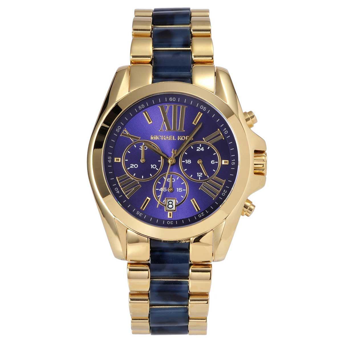 ad977904689d Details about Michael Kors MK6268 Bradshaw Blue Dial Chronograph Men s Watch