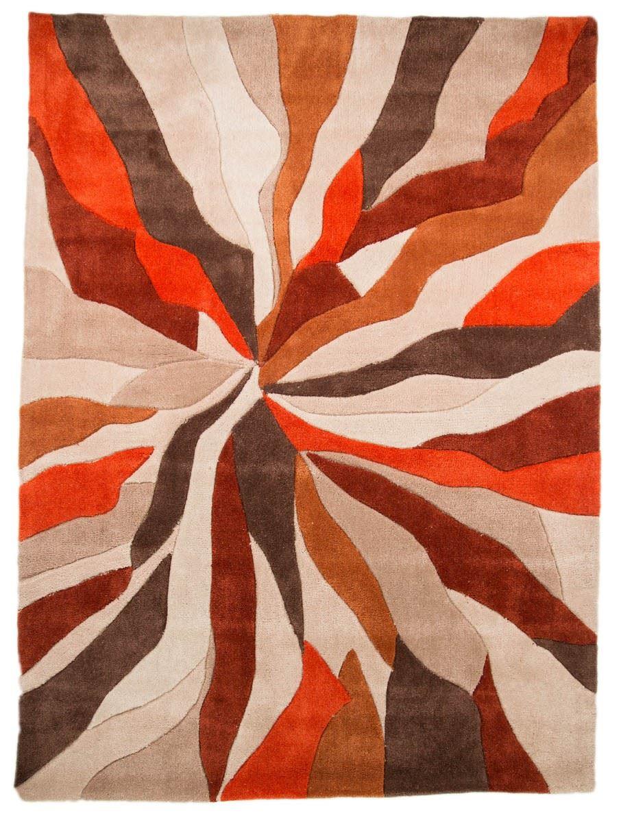 Infinite-Splinter-Tapis-Rectangulaire-orange-marron-salon-Plancher-Confort miniature 4