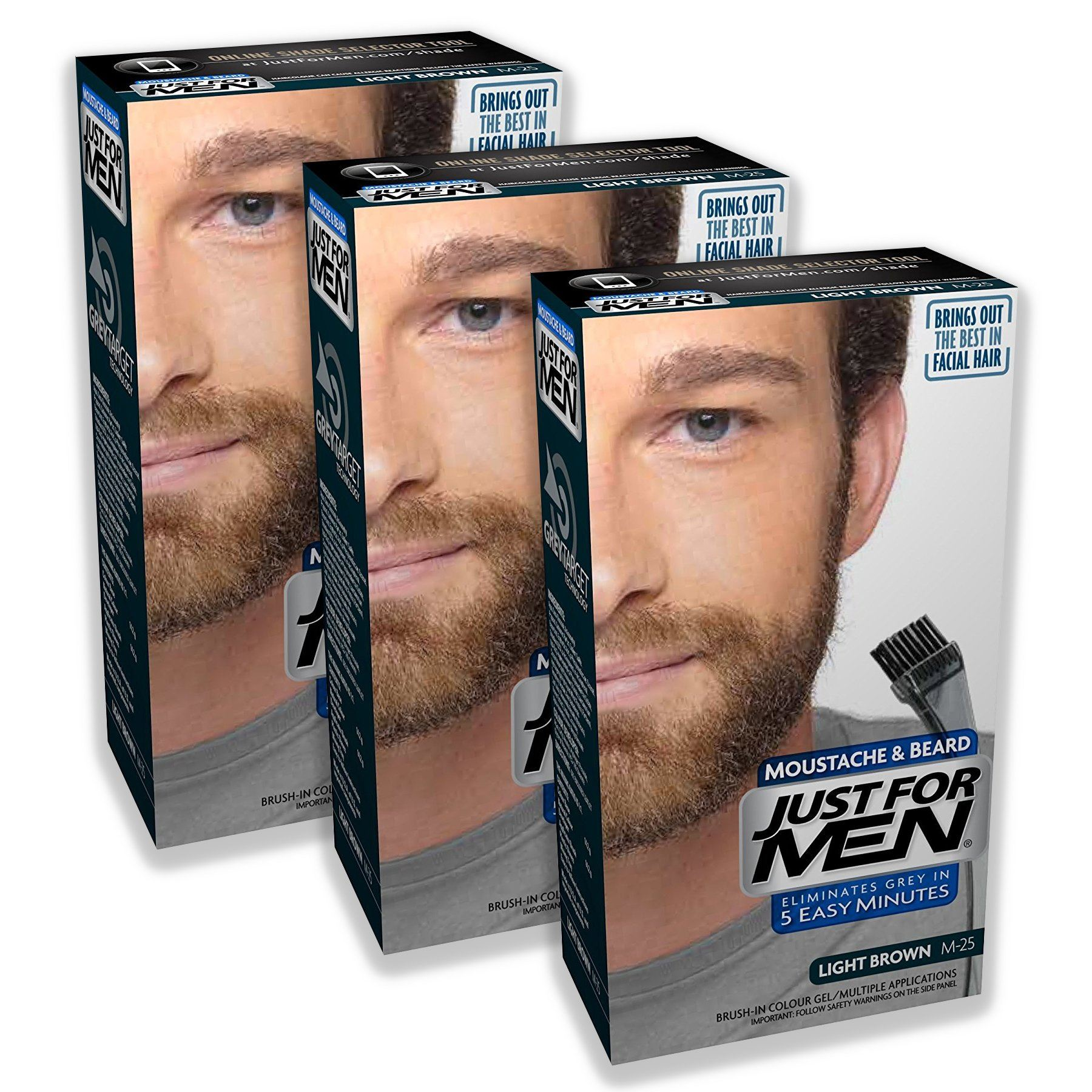 Just For Men Moustache & Beard Dye Colourant Various Shades 3 ...
