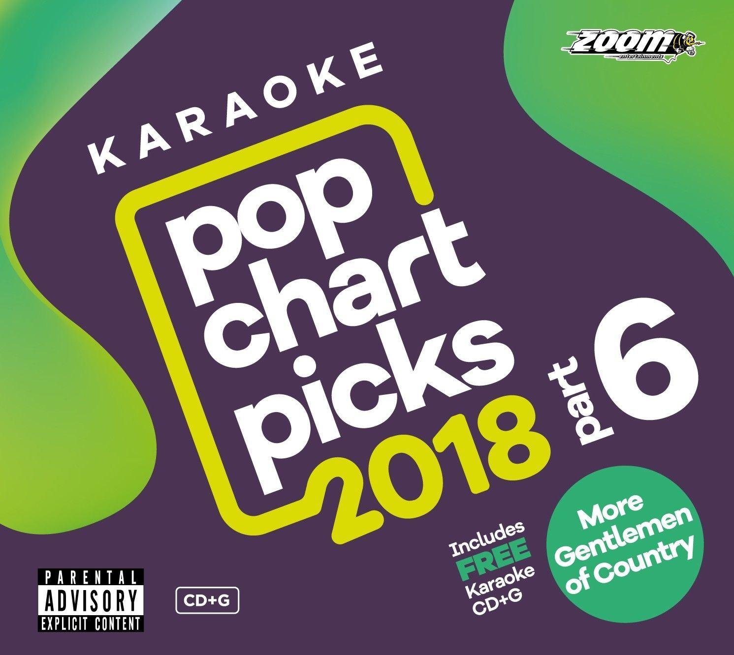 Details about Zoom Karaoke CD+G - Pop Chart Picks 2018 Part 6 + FREE  Country Gentlemen