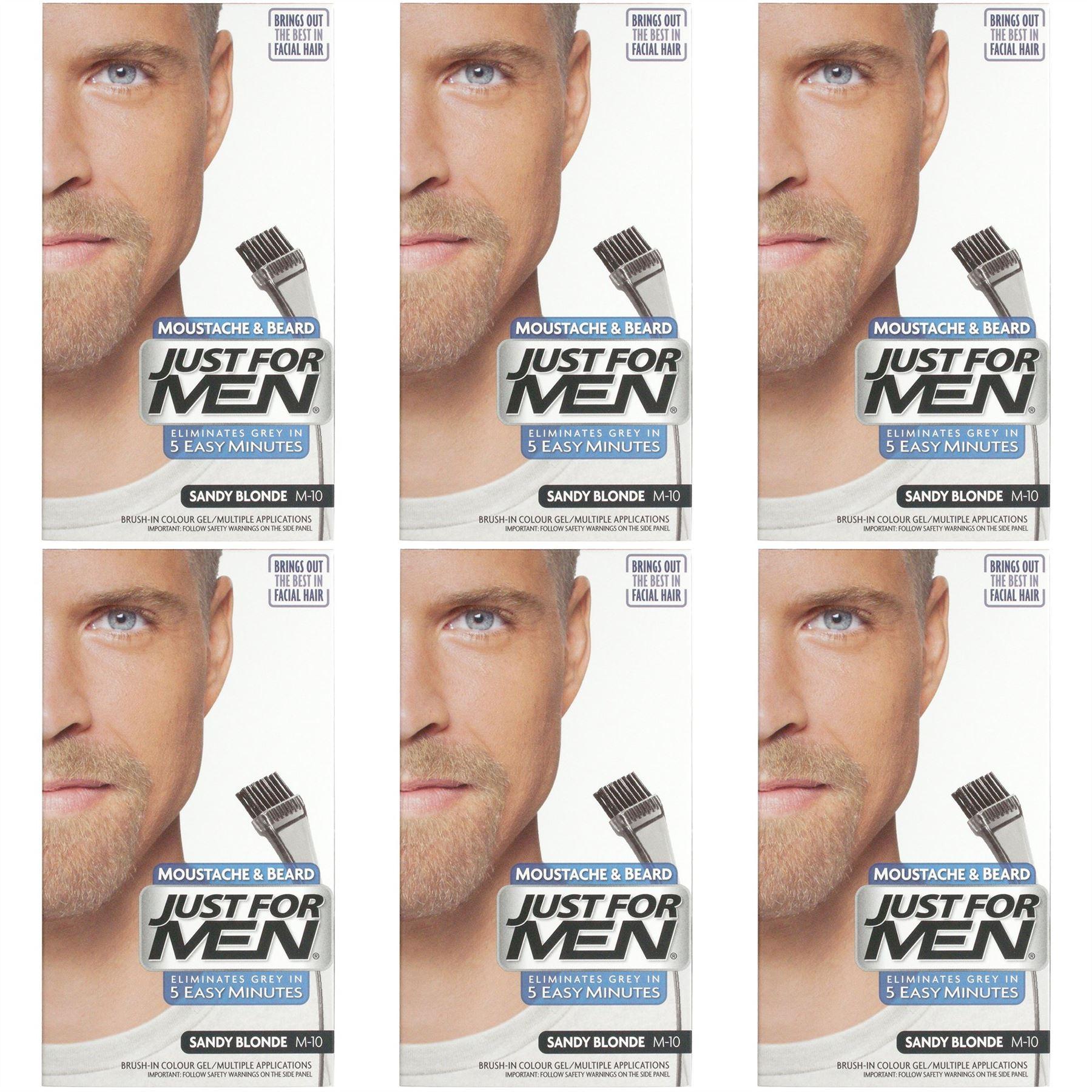 Just For Men Moustache & Beard Dye Colourant Various Shades 6 Packs ...
