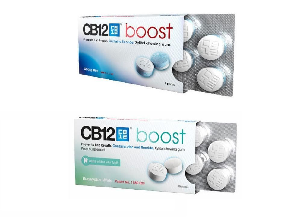 Details about 5 PACK CB12 Boost Eucalyptus OR Strong Mint Sugar Free  Chewing Gum BULK SAVINGS