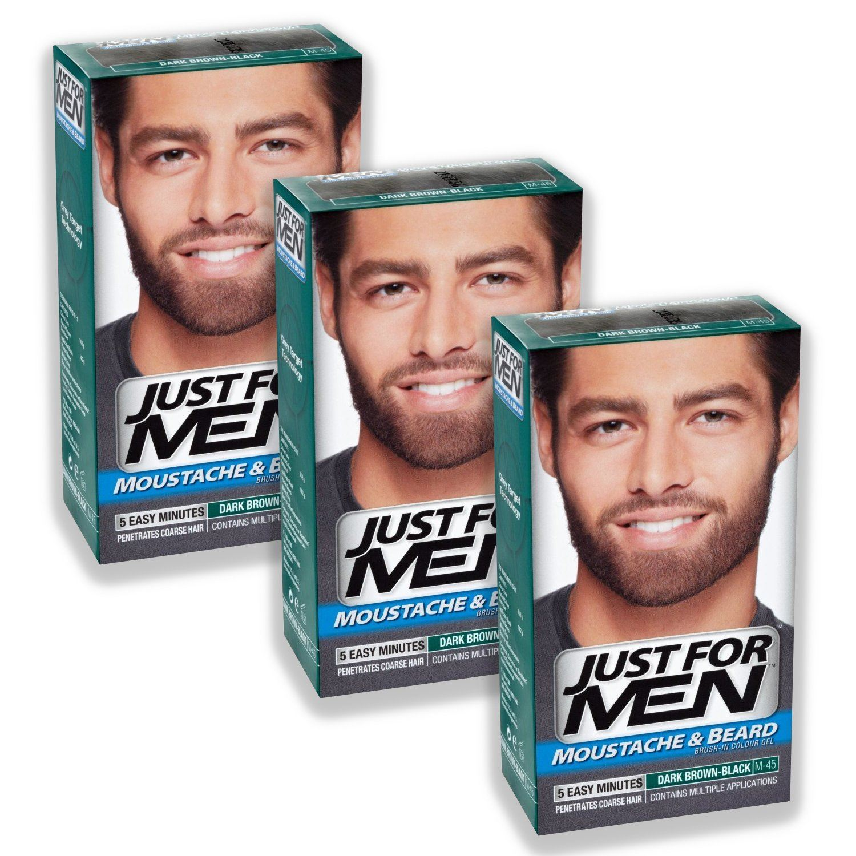 Just For Men Moustache & Beard Dye Colourant Various Shades 3 Packs ...