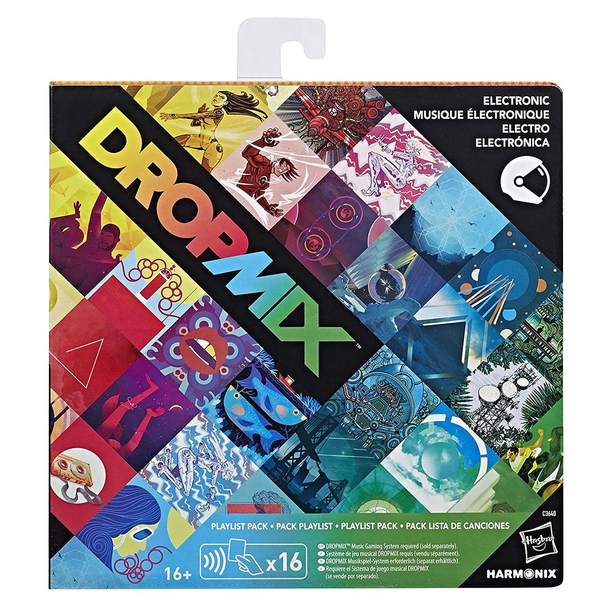 New-Dropmix-Rock-Pop-Hip-Hop-Or-Electronic-Playlist-Card-Pack-Hasbro-Official miniatuur 5